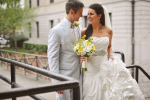 The Knot, Summer 2014 Feature: Shannon and Zach's Preppy Whitfield Square Wedding